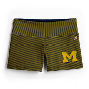 League Collegiate Outfitters University of Michigan Women's Skinny Striped Avery Boy Short