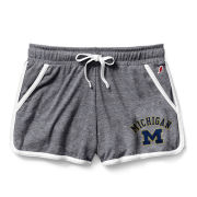 League Collegiate Outfitters University of Michigan Women's Heather Gray Phys Ed Short