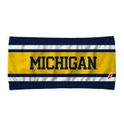League Collegiate Outfitters University of Michigan Women's Multi-Color Striped Bandeau