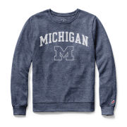 League Collegiate Outfitters University of Michigan Women's Heather Blue Long Sleeve Tee