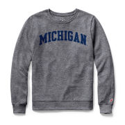 League Collegiate Outfitters University of Michigan Women's Heather Gray Long Sleeve Tee