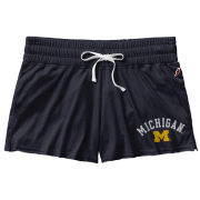 League Collegiate Outfitters University of Michigan Women's Navy Clotheline Cotton Shorts