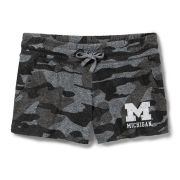 League Collegiate Outfitters University of Michigan Women's Camo Terry Shorts