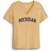 League Collegiate Outfitters University of Michigan Women's Yellow V-Neck Intramural Tee