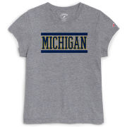 League Collegiate Outfitters University of Michigan Women's Heather Gray Intramural Tee
