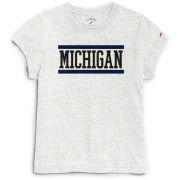 League Collegiate Outfitters University of Michigan Women's Heather Linen Intramural Tee