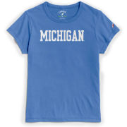 League Collegiate Outfitters University of Michigan Women's Powder Blue Respin Tee