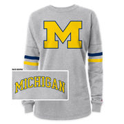 League Outfitters University of Michigan Ladies Gray Rah Rah Sweatshirt