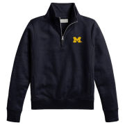 League Collegiate Outfitters University of Michigan Women's Navy Academy 1/4 Zip Pullover Sweatshirt