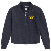 League Collegiate Outfitters University of Michigan Women's Heather Navy Victory Springs 1/2 Zip Pullover Sweatshirt
