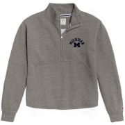 League Collegiate Outfitters University of Michigan Women's Heather Gray Victory Spring 1/4 Zip Pullover Sweatshirt