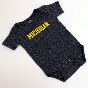 Little King University of Michigan Infant Heather Navy Onesie Bodysuit