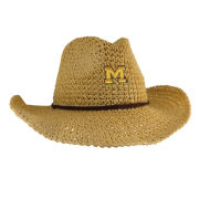 LogoFit University of Michigan Sahara Natural Crushable Cowboy Hat