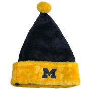 LogoFit University of Michigan Maize and Blue Santa Hat
