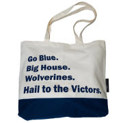 Logo Chairs University of Michigan ''Favorite Things'' Canvas Tote Bag