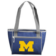 Logo University of Michigan Crosshatch 16 Can Cooler Tote
