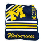 Logo Brands University of Michigan Raschel Throw Blanket