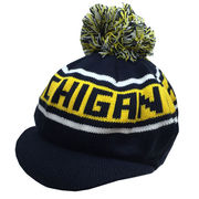LogoFit University of Michigan Knit Tam Hat with Pom