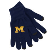 LogoFit University of Michigan Navy Smart Touch Texting Gloves