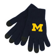 LogoFit University of Michigan Navy Youth Smart Touch Texting Gloves
