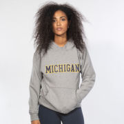 lululemon University of Michigan Women's Heathered Gray All Yours Hooded Sweatshirt<br><b>[Temporarily Out of Stock]</b>