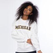 lululemon University of Michigan Women's White Perfectly Oversized Crewneck Sweatshirt<br><b>[Temporarily Out of Stock]</b>