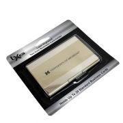 LXG University of Michigan Two-Tone Nickel Business Card Holder