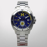 HAIL Brand University of Michigan Michigan Man Stainless Steel Watch