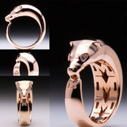 MaraWatch & Co. University of Michigan 14k Rose Gold Plated Wolverine Ring