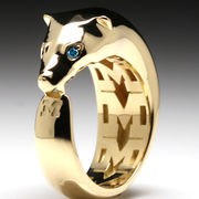 MaraWatch & Co. University of Michigan 18k Solid Yellow Gold Wolverine Ring