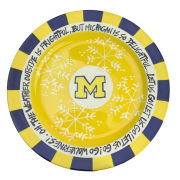 Magnolia Lane Pottery University of Michigan 12'' Snowflake Plate