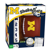 Masterpieces University of Michigan Shake 'n Score Travel Dice Game