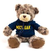 Mascot Factory University of Michigan Charlie Bear with Hooded Sweatshirt