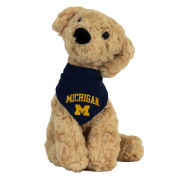 Mascot Factory University of Michigan Mighty Tykes Golden Retriever Plush Dog Stuffed Animal