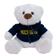 Mascot Factory University of Michigan 10'' White ''Louie'' Plush Bear