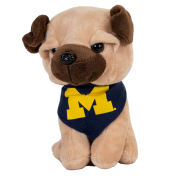 Mascot Factory University of Michigan ''Pupparazzi'' Plush Pug Dog Stuffed Animal