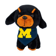 Mascot Factory University of Michigan ''Pupparazzi'' Plush Doberman Dog Stuffed Animal