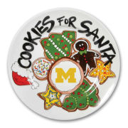 Magnolia Lane University of Michigan ''Cookie For Santa'' Ceramic Plate