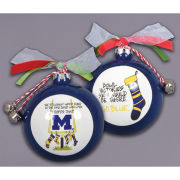 Magnolia Lane University of Michigan Stockings Ornament