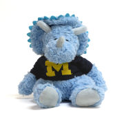 Mascot Factory University of Michigan Cuddle Buddy Blue Triceratops Plush Stuffed Animal