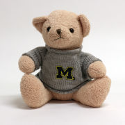 Mascot Factory University of Michigan ''Theodore'' Teddy Bear with Sweater
