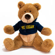 Mascot Factory University of Michigan 18'' Plush Bruno Teddy Bear with Hood