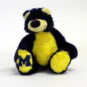 Mascot Factory University of Michigan 12'' Maize and Blue ''Ziggy'' Plush Teddy Bear