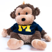 Mascot Factory University of Michigan Monkey CuddleBuddy Stuffed Animal