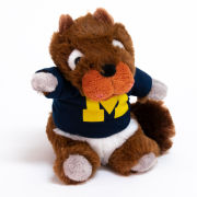 Mascot Factory University of Michigan Plush Cheeky Squad Squirrel