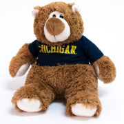 Mascot Factory University of Michigan JP Brown Bear Stuffed Animal