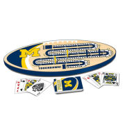 Masterpieces University of Michigan Cribbage Game Board and Playing Cards