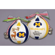 Magnolia Lane University of Michigan Reindeer Ornament