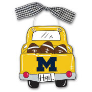 Magnolia Lane University of Michigan Wood Truck Ornament