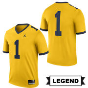 Jordan University of Michigan Football Maize #1 Legend Alternate Jersey
